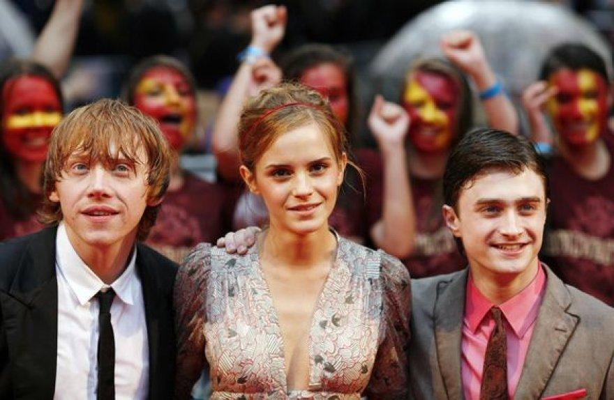 Rupertas Grintas, Emma Watson, Danielis Radcliffe`as