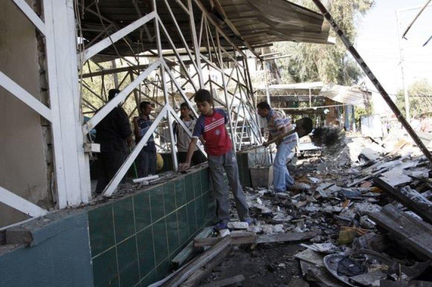 Kruvini sprogimai-trynukai Bagdade