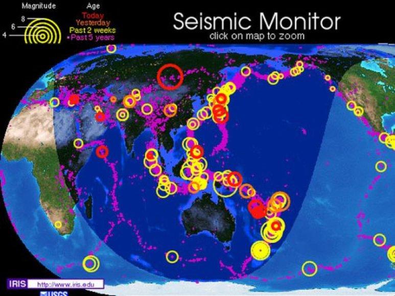 Žemės drebėjimas Sibire