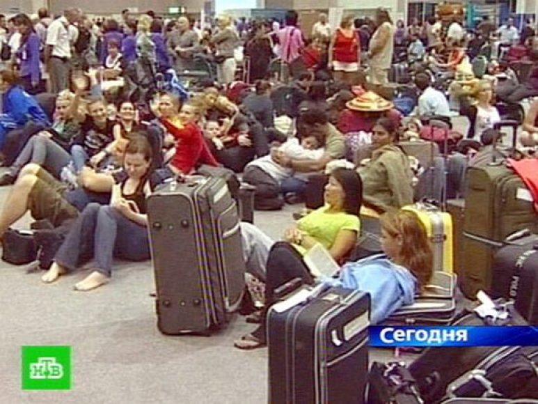 Užstrigę Rusijos turistai