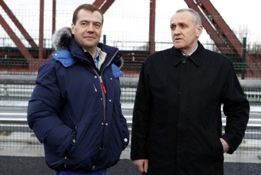 Aleksandras Ankvabas, Abchazijos prezidentas su Dmitrijum Medvedevu