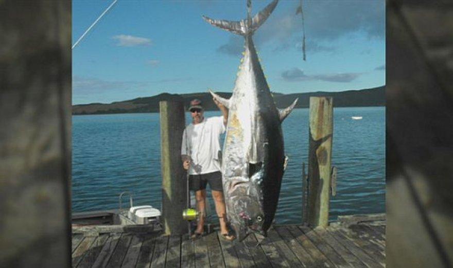 335 kg tunas, sugautas Naujojoje Zelandijoje