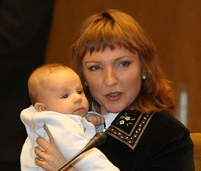 Asta Baukutė su sūnum Rapolu