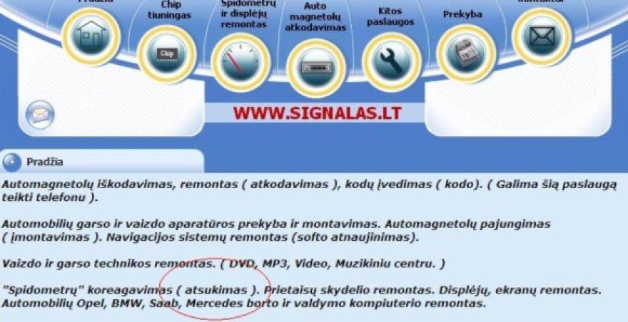 Spidometrų parodymai Lietuvoje keičiami legaliai