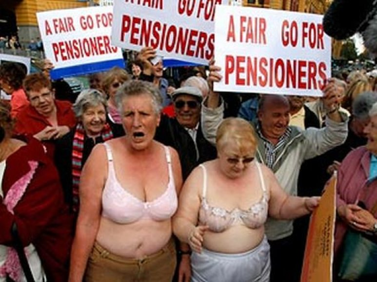 Pensininkų protestas Australijoje