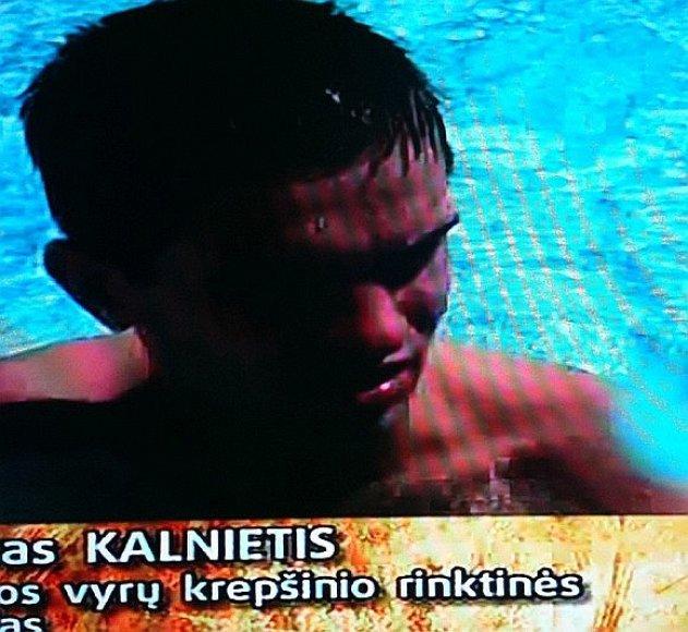 Lietuvos rinktinės vyrai baseine