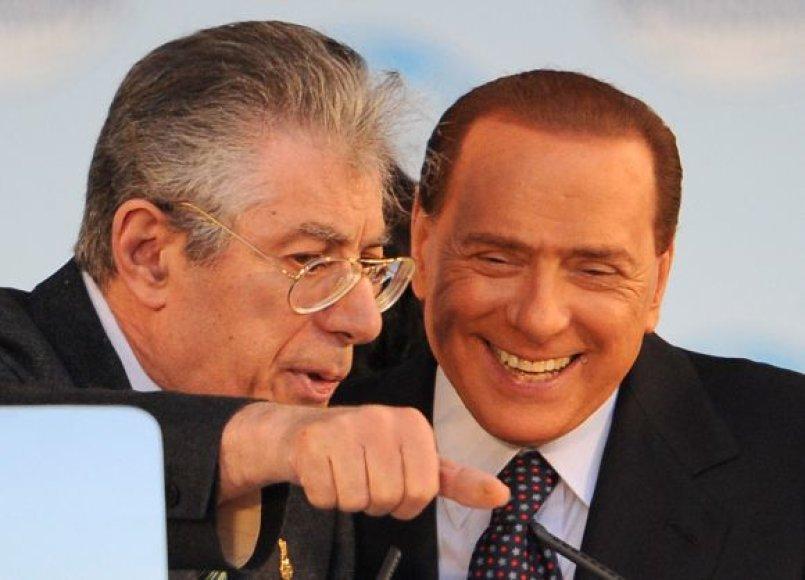 U.Bossis ir S.Berlusconis