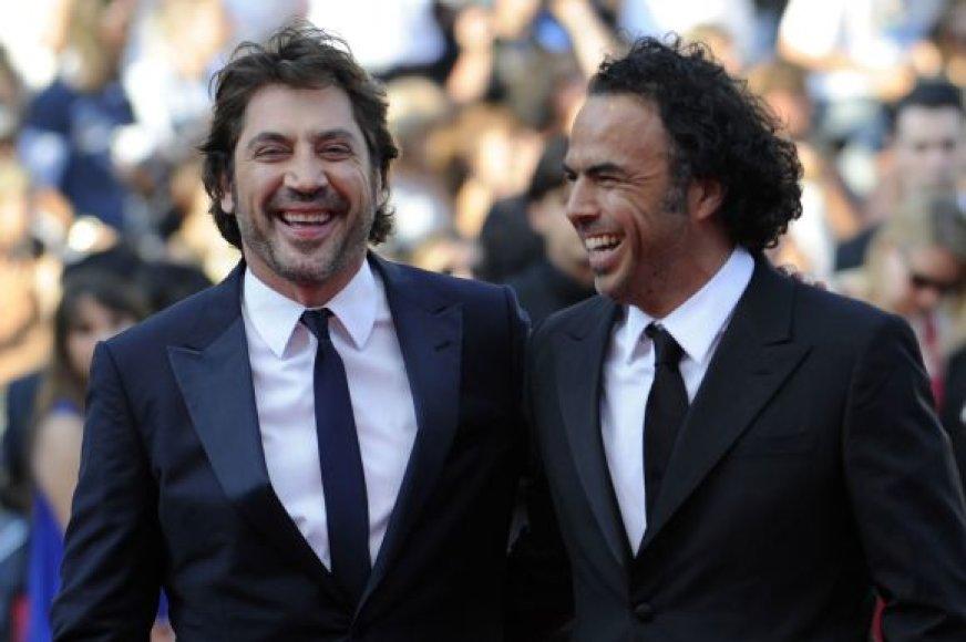 Režisierius Alejandro Gonzalezas Inarritu ir aktorius Javieras Bardemas