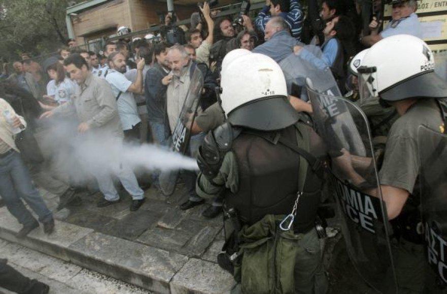 Protestas prie Akropolio Atėnuose