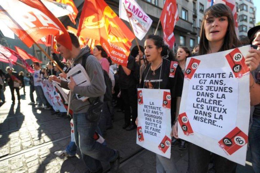 Studentų protestas Strasbūre