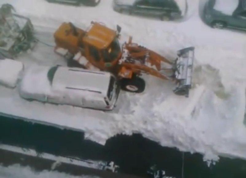 Sniego valymas Niujorke