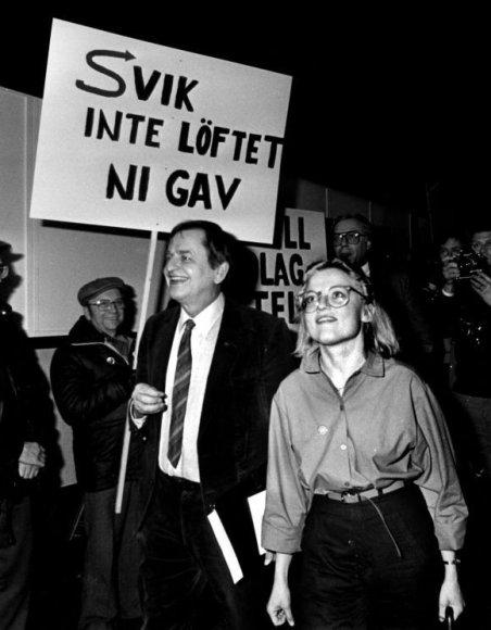 Olofas Palme ir Anna Lindh 1980 m.