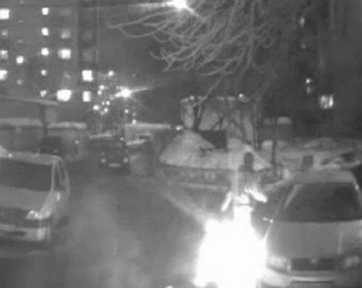 Maskvoje sudegintas benamis