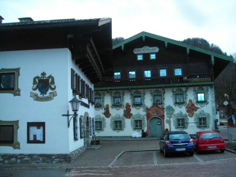 Dekoruotas namas Walchsee, Austrija