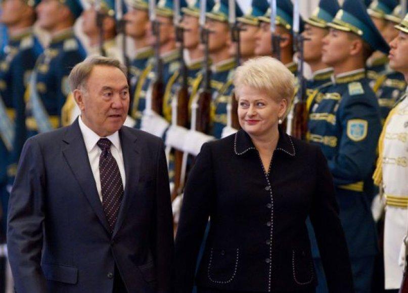Nursultanas Nazarbajevas ir Dalia Grybauskaitė