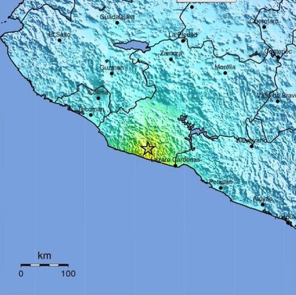 Žemės drebėjimas Meksikoje