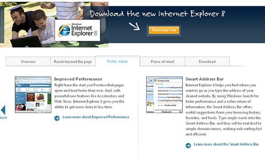 """Internet Explorer 8"""