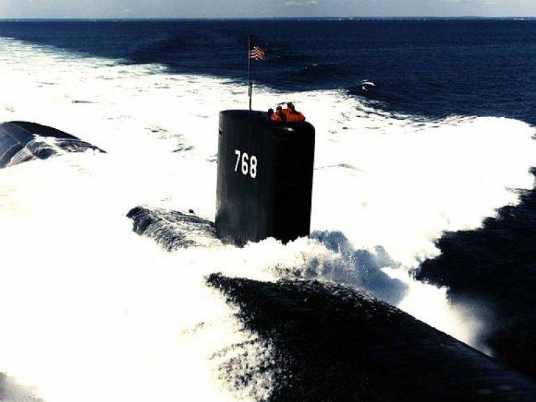 """JAV atominis povandeninis laivas """"USS Hartford"""""""