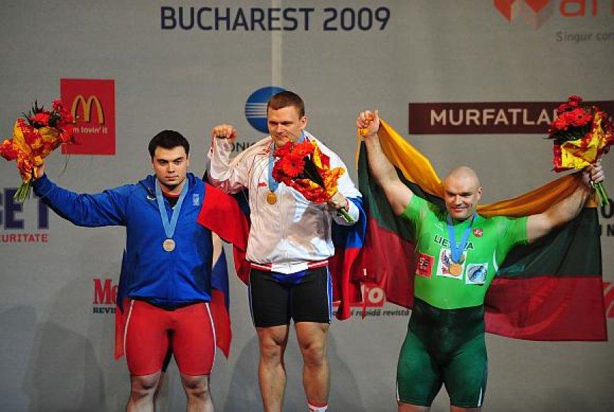 Prizininkai – Oleksijus Torochtijus, Vladimiras Smorčkovas ir Ramūnas Vyšniauskas