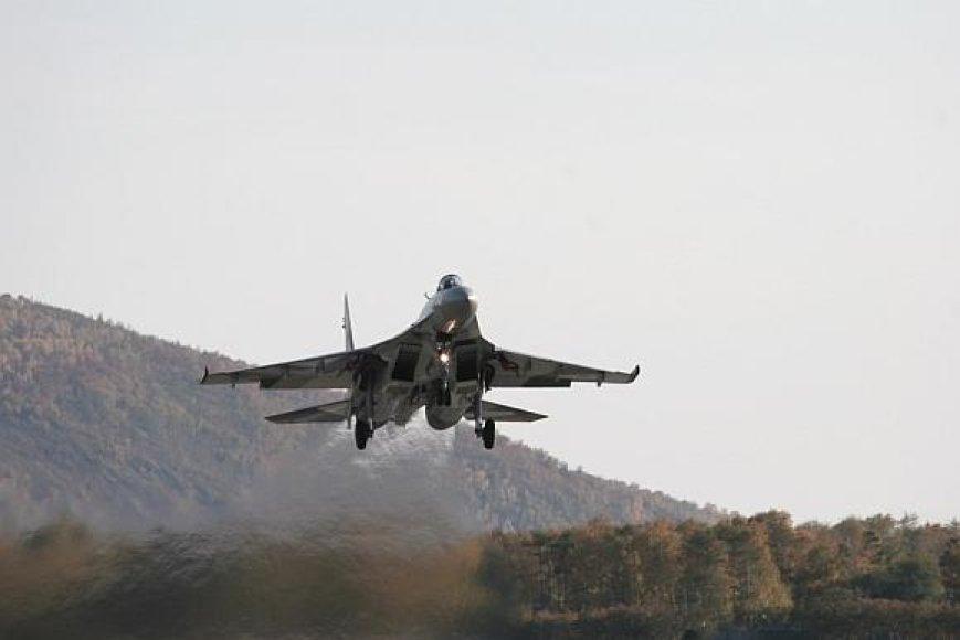 """Moderniausias Rusijos naikintuvas """"Su-35"""""""