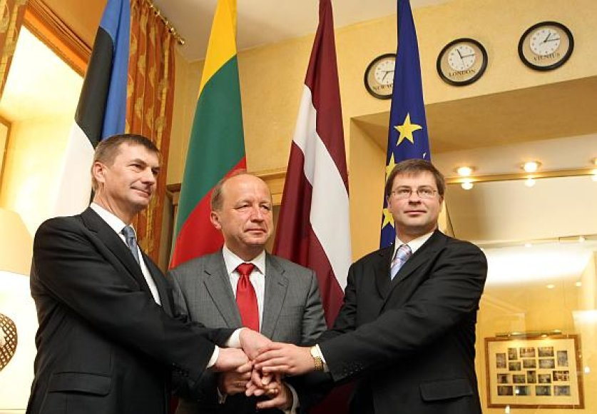 Andrusas Ansipas, Andrius Kublius ir Valdis Dombrovskis