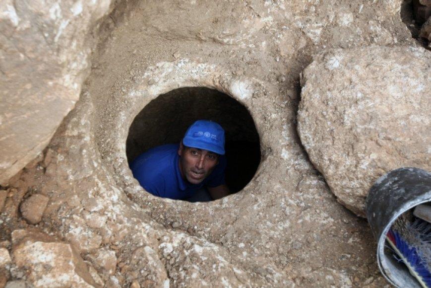 Archeologinių kasinėjimų vietoje
