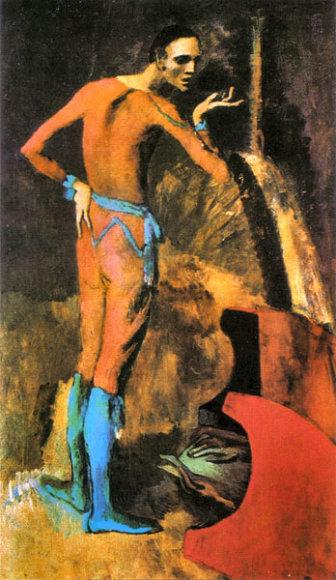 """Pablo Picasso paveikslas """"Aktorius"""""""