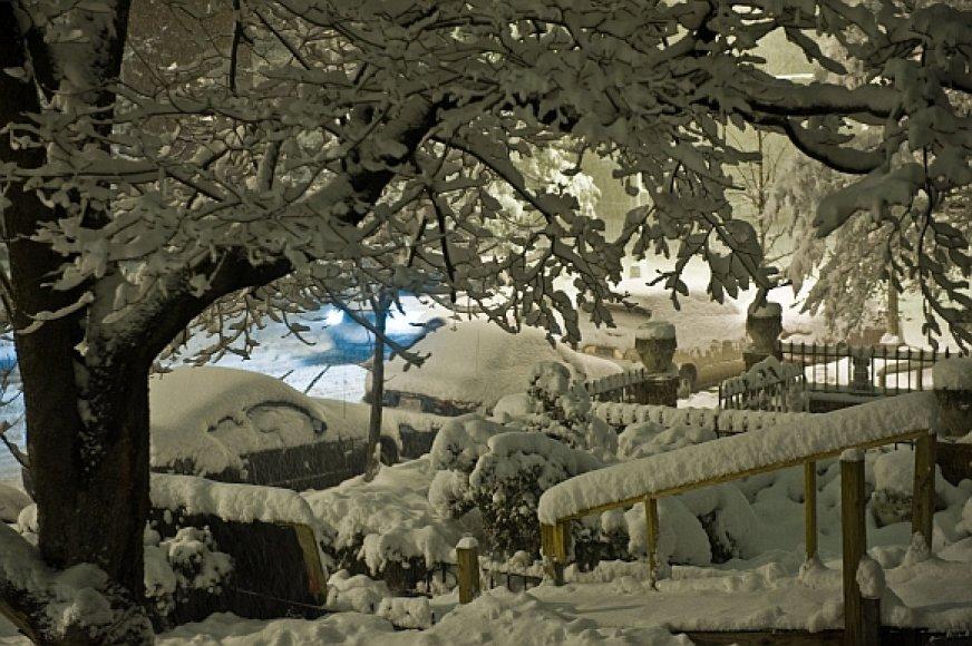 Vašingtoną užklojo storas sniego sluoksnis.
