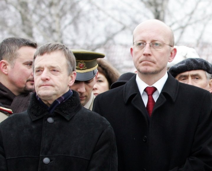 Remigijus Vilkaitis ir Arūnas Valinskas