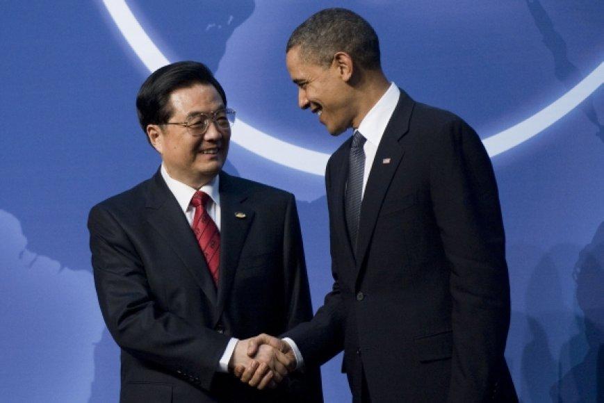 Hu Jintao ir Barackas Obama