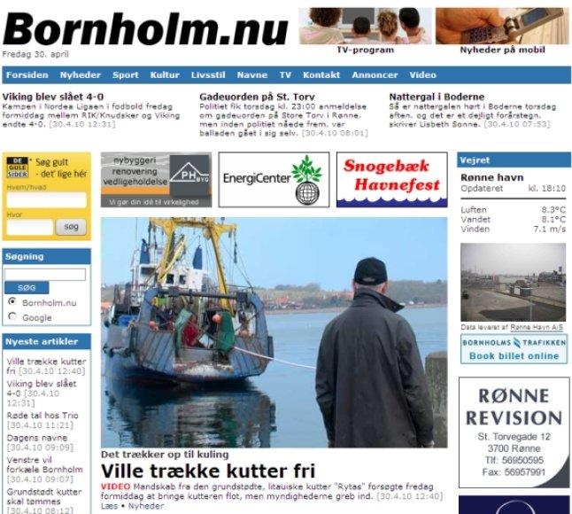 """Vietiniame naujienų portale incidentas su """"Rytu"""" tapo pagrindine dienos naujiena."""