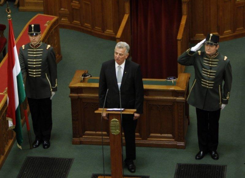 Vengrijos prezidentu išrinktas Palas Schmittas.