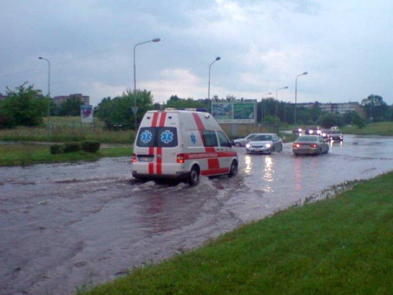 Liūties padariniai Vilniuje