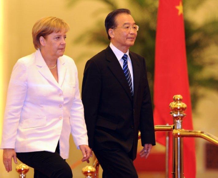 Angela Merkel ir Wen Jiabao