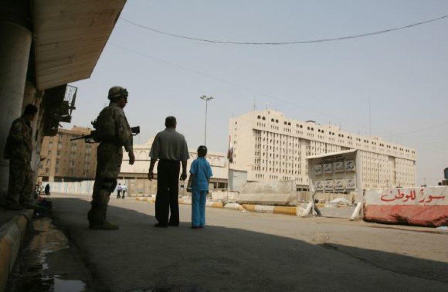 Armijos verbavimo centras Bagdade, kuriame įvyko sprogimas