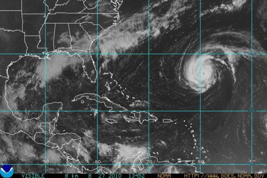 Uraganas Danielle išsikvėpė iki audros.