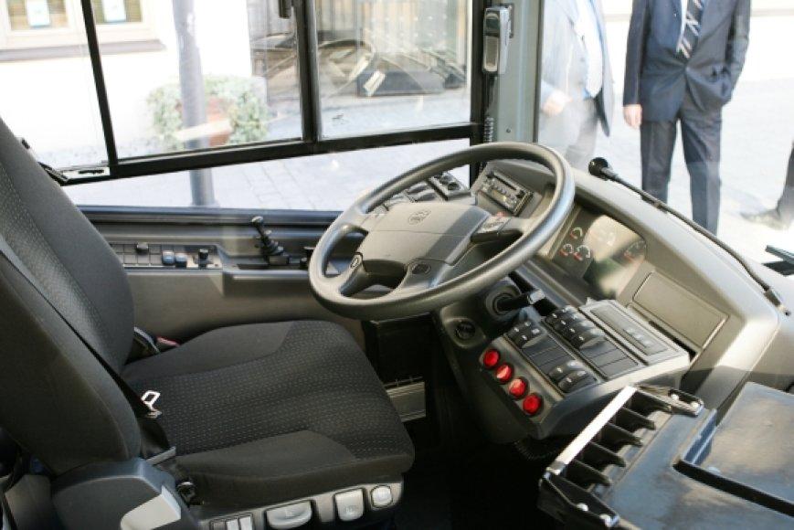 Autobuso vairuotojo darbo vieta