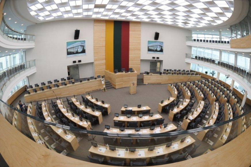 Tuščia Seimo salė