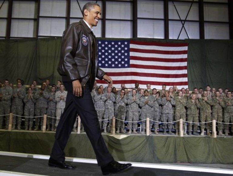 Barackas Obama Afganistane, Bagramo karinėje bazėje