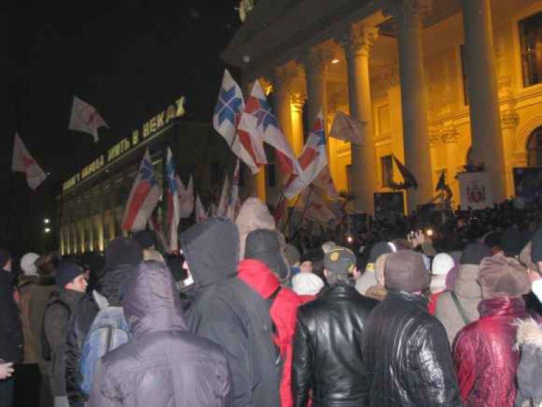 Opozicijos atstovai išėjo į Minsko gatves.