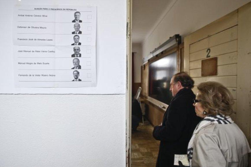 Portugalai renka naują prezidentą.