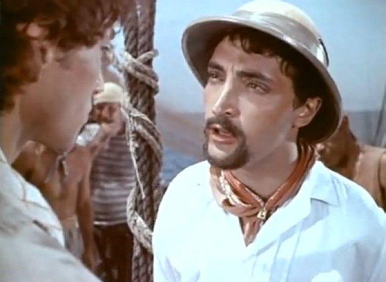 """Michailas Kozakovas filme """"Žmogus amfibija"""" atliko chrestomatinio piktadario Pedro Zuritos vaidmenį."""