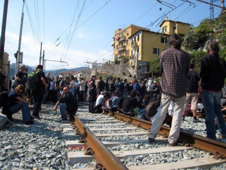 Migrantai iš Tuniso ties Italijos ir Prancūzijos siena