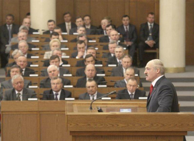 Aliaksandras Lukašenka Baltarusijos parlamente