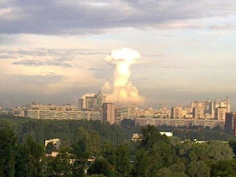 Keistas debesis virš Sankt Peterburgo