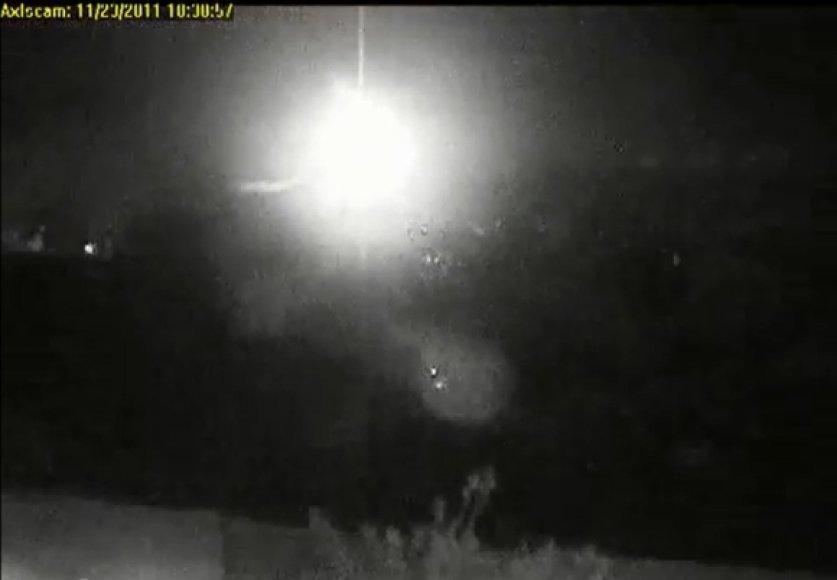 Lėktuvo avariją užfiksavo internetinė vaizdo kamera.