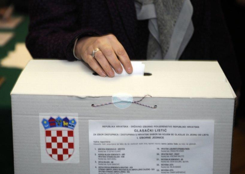 Rinkimų balsadėžė Kroatijoje