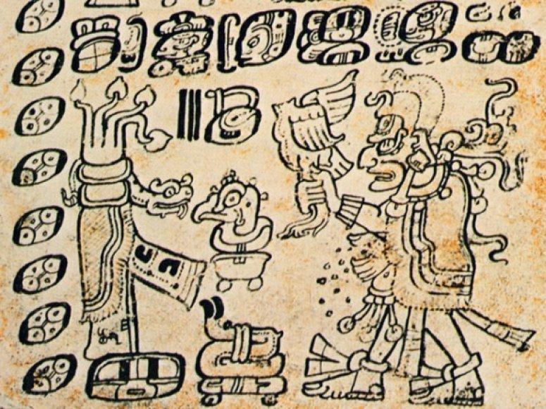 Kaip spėjama, šiame raižinyje pavaizduotas dievas Bolonas Joktė.