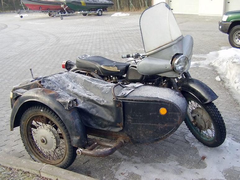 Pasieniečių sulaikytas motociklas