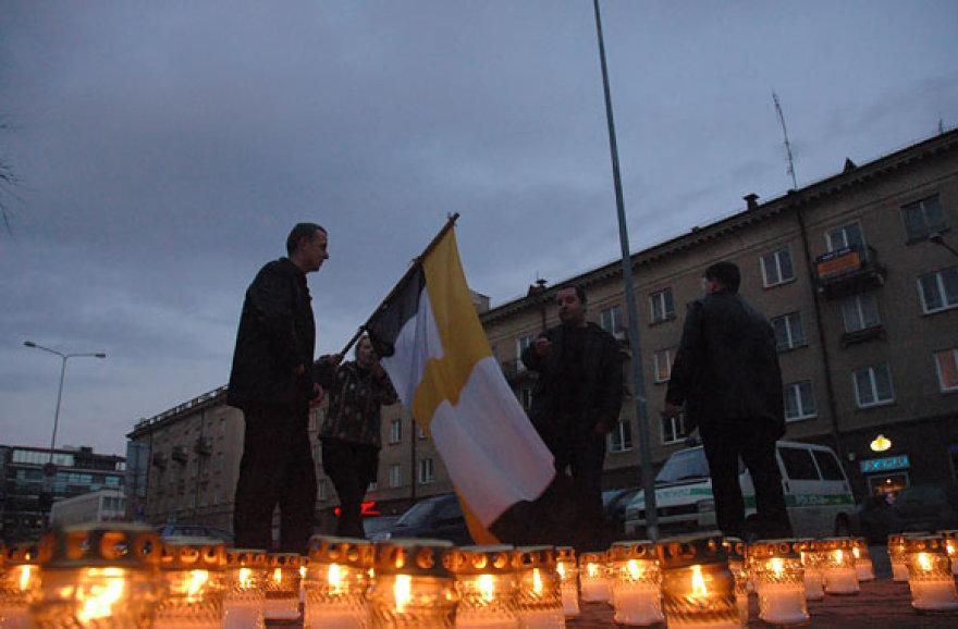Žvakutės prie Seimo